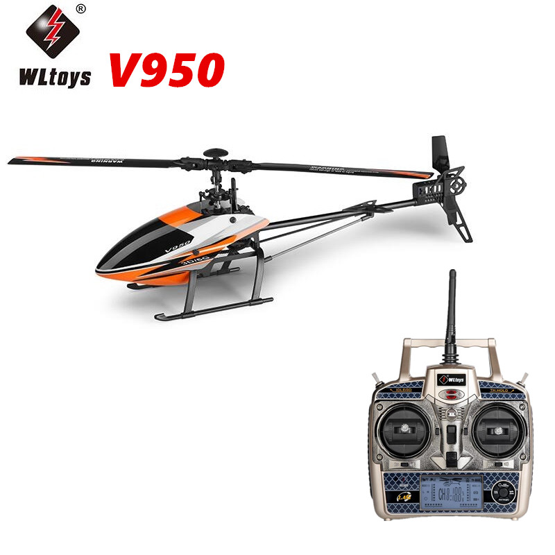 Wltoys V950 6ch 3d6g System Flybarless Big Rc Helicopter