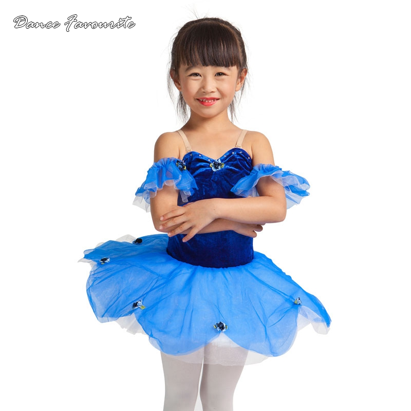 Dance Favourite Royal blue Ballerina Ballet Dance Tutu Costume, girl performance stage ballet tutu
