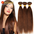 7A Indian Virgin Remy Straight Human Hair Dark Brown Crochet Hair  Weft Extension 3 bundles Eli Hair Grace Hair Products
