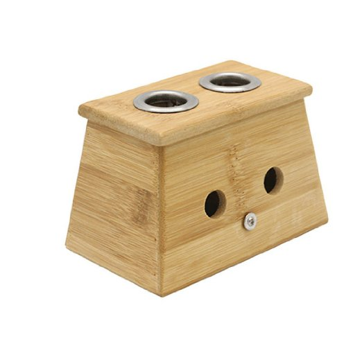 Bamboo Two Hole Healing Box for Moxa Moxibustion Medicine Therapy emotional healing for horses