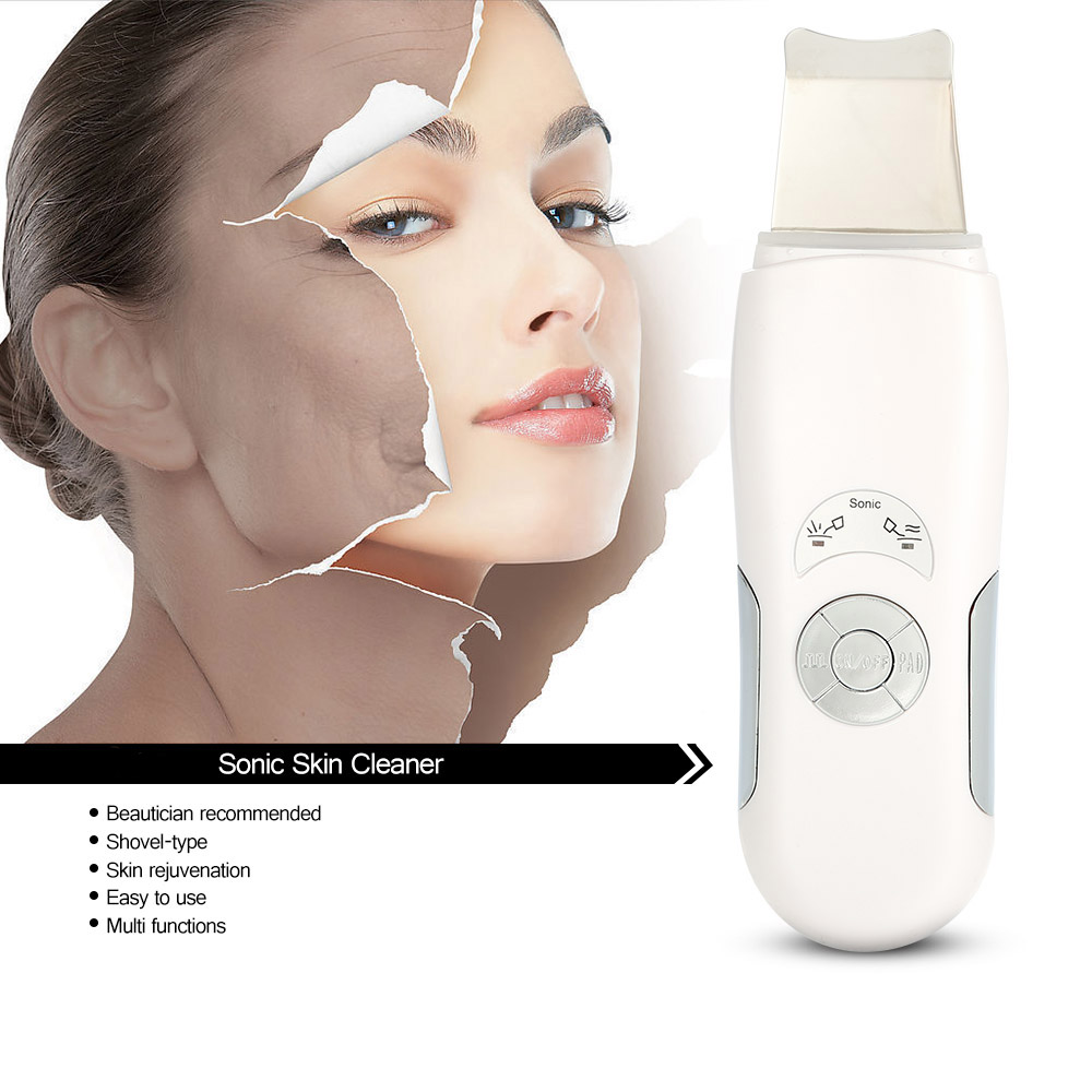 Sonic Skin Cleaner Ultrasonic Face Pore Scrubber Facial Tighten Therapy Peeling Exfoliator Blackhead Removal Skin Care Massager