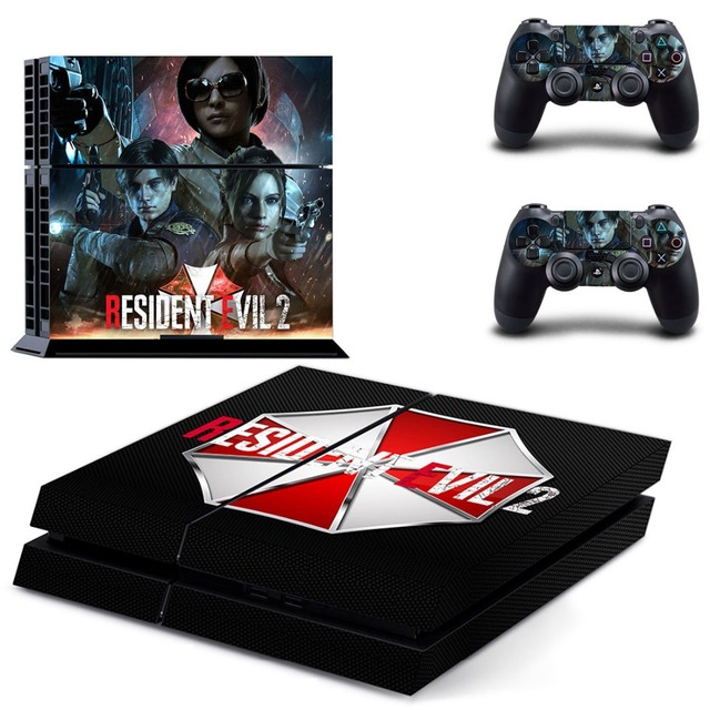 Resident Evil 2 Remake PS4 Skin Sticker Decal For PlayStation 4 Console and  2 Controllers PS4 Skins Sticker Decal