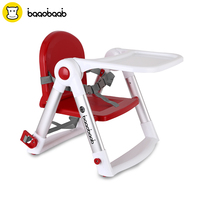 Baaobaab Dining Booster Seat Safety Belt Baby Highchair Child/Kids Dinner Feeding Chair Collapsible Foldable Portable, 0 15 kg