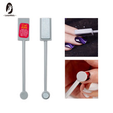 Ladymisty Double-End Cat Eye Magnet Stick 3D Magic Effect Gel Varnish Garis Garis Hiasan Kuku Magnetik Alat(China)