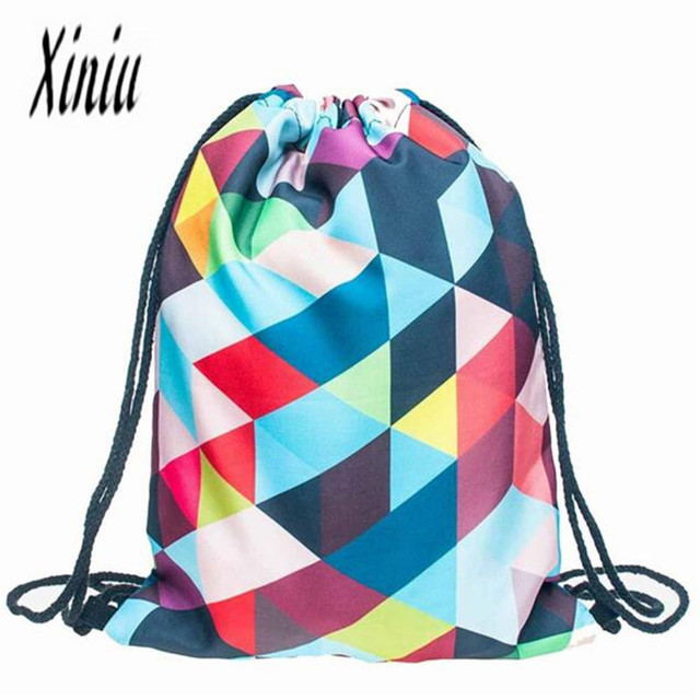 Aliexpress.com : Buy Women Casual Drawstring Bag Sackpack Printed ...