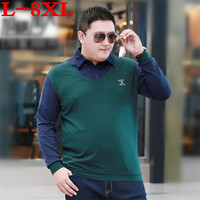 plus size 8XL 9XL 10XL Mens T Shirt Brands new Male Long Sleeve Fashion Casual Slim Solid Embroidery Men T Shirt Jerseys