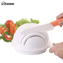 SHENHONG With Retail box 60 Second Salad Cutter Bowl Easy Salad Fruit Vegetable Washer And Cutter Quick Salad Maker Chopper