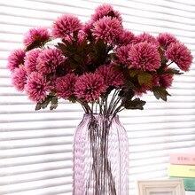 Dalias flores artificiales de seda de alta calidad, para el hogar, Hotel, boda y oficina