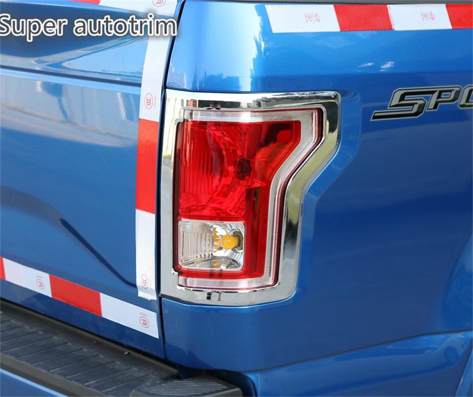 Lapetus Chrome Tail Luces traseras Marco de la lámpara Decoración - Accesorios de interior de coche
