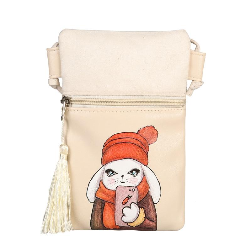 f9ecd31527c fashion summer shoulder bags character handbag woman travel money pouch  designer crossbody handbags pu leather tassel phone bags-in Shoulder Bags  from ...