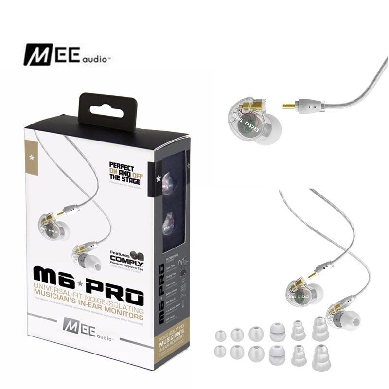 bilder für Original MEE audio M6 PRO Geräuschisolation Musik In Ohr Headsets Schwarz/Weiß Universal Fit Verdrahtete Kopfhörer VS SE215 SE535 SE315