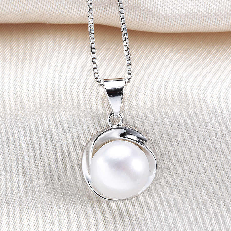 Lowest Price Natural Freshwater Pearl Jewelry Sets For Women Fashion 925 Sterling Silver Earrings+Pendant Best Gift With Box