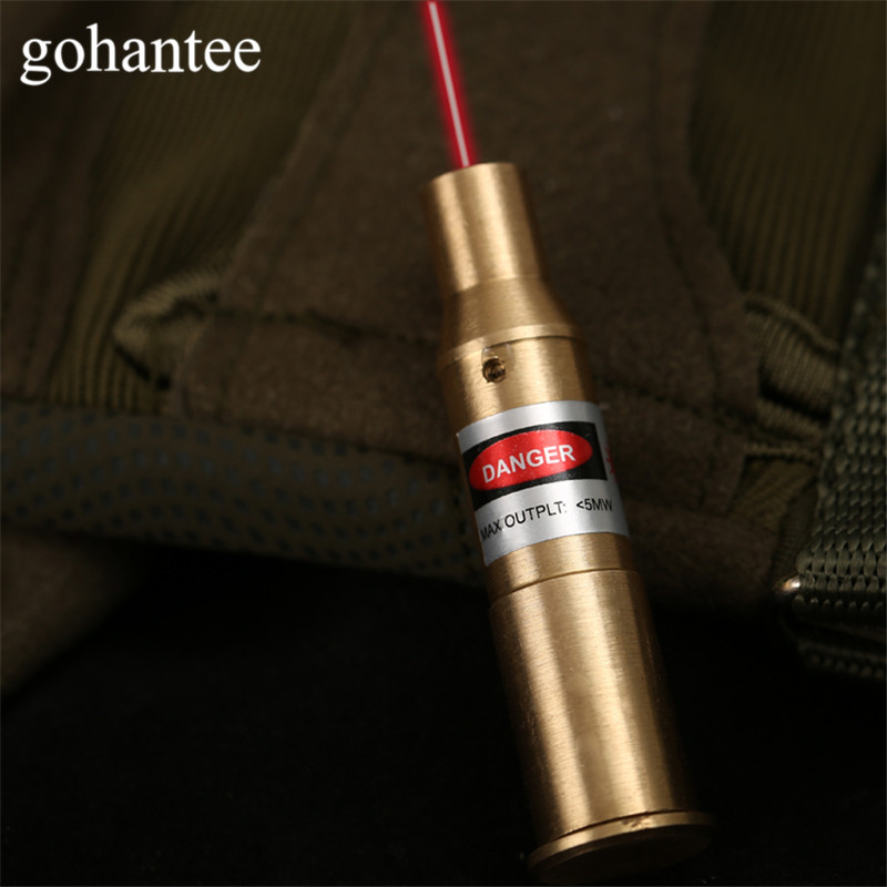 Gohantee Caccia Boresighter Tactical Red Dot CAL:. 7.62 x 54R Calibro Laser Della Cartuccia Foro Sighter per Fucili/pistola/Pistola In Ottone