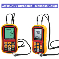 GM100/130 Digital LCD display Ultrasonic Thickness Gauge Metal Testering Measuring Instruments 1.2 to 200MM Sound Velocity Meter