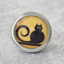 Cute Black Cat Knobs Vintage Drawer Pulls Kids Handmade Handles Animal Cupboard knobs Kitchen Cabinet Hardware