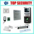 F807 TCP comparecimento do tempo da impressão digital e sistema de controle de acesso com leitor de cartão RFID controlador de acesso biométrico standalone