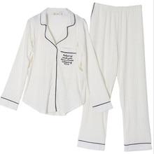 Новая модная одежда для беременных домашний сервис удобные дышащие пижамы хлопок с длинным рукавом Луна костюм для кормления грудью