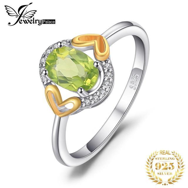Genuine Gemstone Peridot Ring