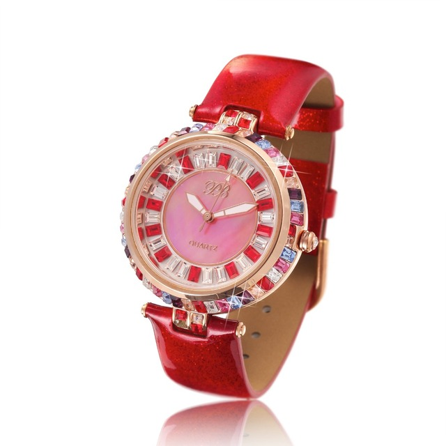 5a091cdad Designer Watch UK Girls Diamond Chinese Watches Famous Rhinestone Ladies  Brand Wristwatch Bling Dress Orange HL538SPT