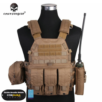 Emersongear LBT 6094 Tactical Vest With 3 Pouches Hunting Airsoft Military Combat Gear EM7440 Multicam AOR Khaki Mandrake impact wrench