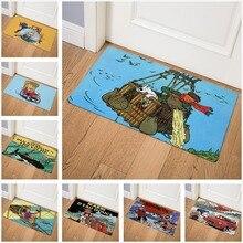 Tintin adventures коврик с принтом спереди коврик для гостиной Придверный коврик для коридора водонепроницаемый нескользящий коврик