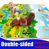 Baby toy double-faced foam Play Mat, floor Mat for Kids/Safety+Gym Picnic Carpet Animal forest Rainbow Castle ,thickness0.5cm