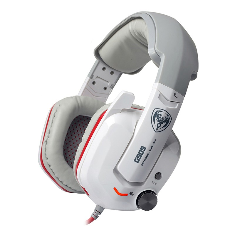 SOMiC G909 Original Headphone 7.1 Virtual Surround Sound Headband USB Gaming Headset With Vibration Mic LED for PC Computer somic g951 original gaming headphone deep bass stereo sound usb headband with mic vibration led computer game headset