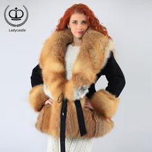bca6e155fbe6 Promoción de Rojo Abrigo De Piel De Conejo - Compra Rojo Abrigo De ...