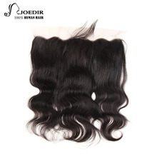Волосы Joedir бразильского тела Волшебное кружево Фронтальное закрытие 13x4 с детскими волосами Двойные узлы Remy Human Hair Closure