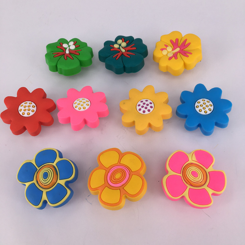 Soft Rubber PVC Flower Cabinet Wardrobe Drawer Pull Handle knob for Children baby Room child protection knob handle cute non toxic eco soft rubber pvc cabinet wardrobe drawer pull handle knob for child room