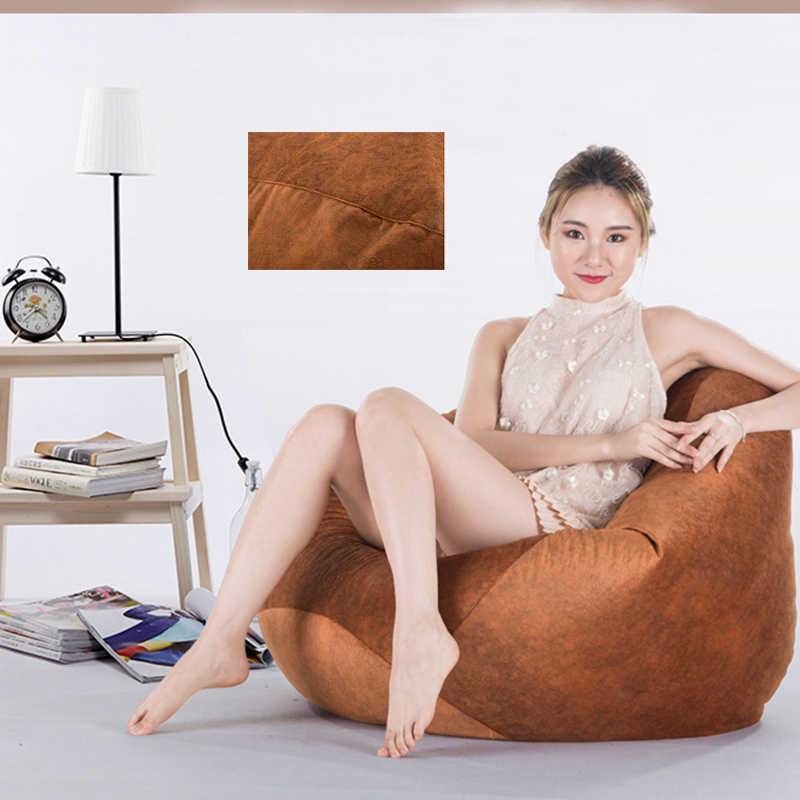 100*120 см большое Кресло-мешок диван накладка на стул Ленивый чехол для дивана без наполнителя замшевые шезлонги и османские татами мебель для гостиной