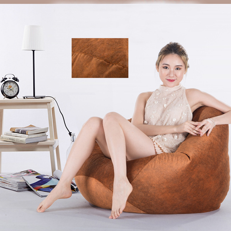 100*120cm Large Bean Bag Sofa Chairs Cover Lazy Sofa Cover No Filler Suede Loungers And Ottoman Tatami Living Room Furnitures