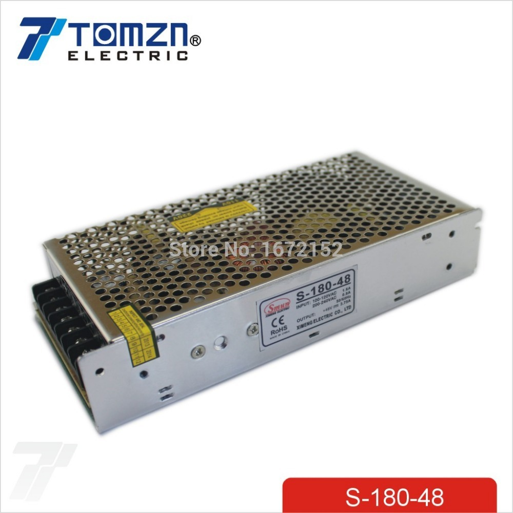 180W 48V 3.75A Single Output Switching power supply for LED Strip light AC to DC single output dc 24v 25a 600w switching power supply for led light strip 110v 240v ac to dc24v smps with cnc electrical equipmen