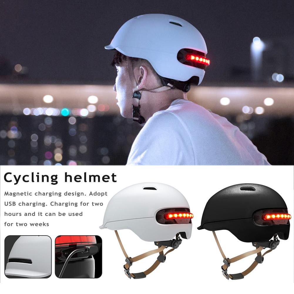 High Quality Smart Flash Riding Helmets For Xiaomi Mijia M365 Electric Scooter Skateboard Accessories USB Charging