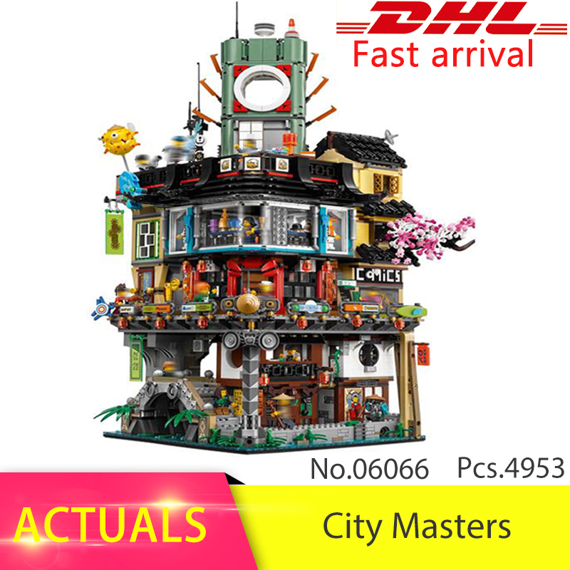 Lepin 06066 4953pcs City Masters of Spinjitzu Building Blocks Bricks Toys For Children compatible legoing Ninjago series lepin city town city square building blocks sets bricks kids model kids toys for children marvel compatible legoe