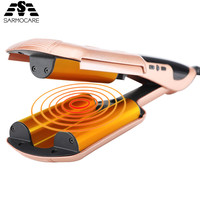 Professional Tourmaline Ceramic Heating wave hair straighteners Fast Warm up Crimper hair curler corrugated Iron styling tools
