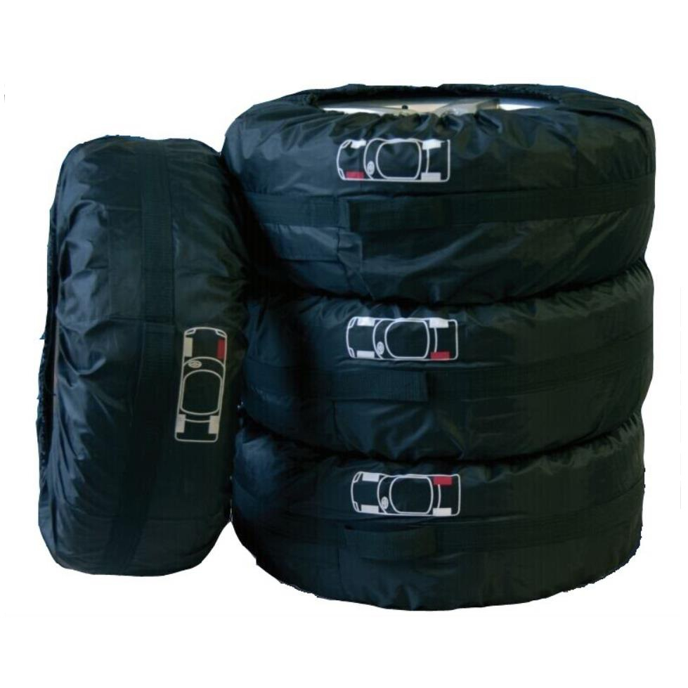 Auto Care 4Pcs Set Spare Tyre Cover Tire Cover Storage Bag