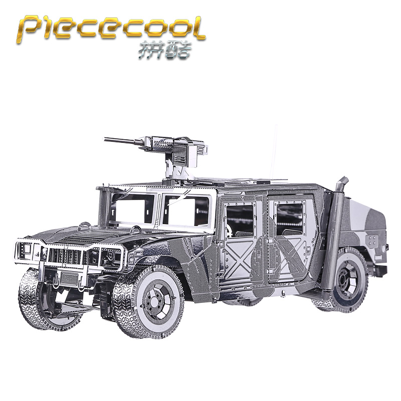 Piececool 3D Metal Puzzle of AMG Hummer DIY Military Model Kits jigsaw 3D Armored Car Puzzle DIY Kids Educational Toys