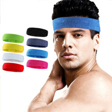 Badminton movement with the basketball sport headband Pure cotton towel absorbent