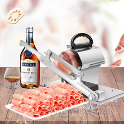 Commercial stainless steel easy to cut frozen meat machine beef and mutton slicer home desktop manual meat slicer