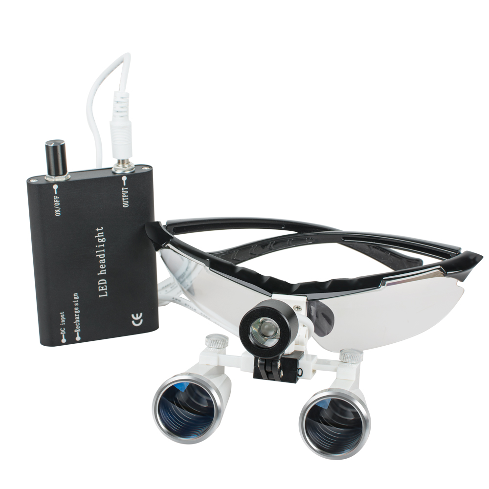 Sale! 3.5x320mm Dental Surgical Binocular Loupes lk09 + Black LED Head Light Lamp AAA+Sale! 3.5x320mm Dental Surgical Binocular Loupes lk09 + Black LED Head Light Lamp AAA+