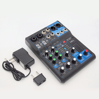 Finlemho dj-микшер аудиоконсоль MG06 Профессиональное аудио 48 V Phantom Мощность для Мощность разъем Усилитель-сабвуфер Динамик линейный массив