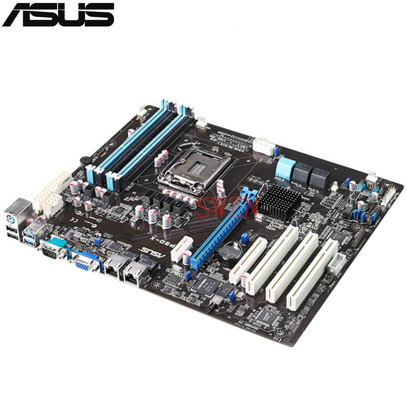 original Used Server motherboard For ASUS P9D-X Socket 1150 Maximum 4*DDR3 32GB 2xSATAIII 4xSATAII ATX