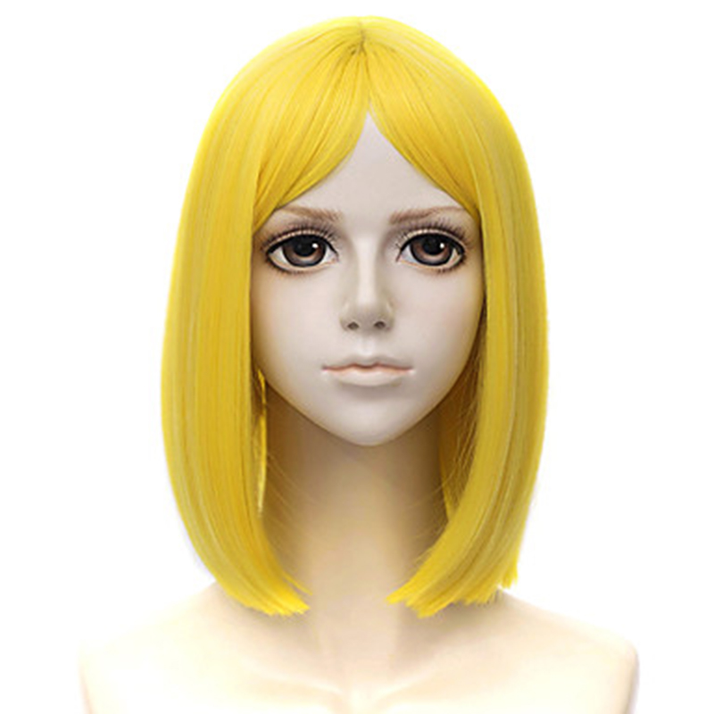 HAIRJOY Synthetic Hair Cosplay Wig Yellow Diamond In Land Of The Lustrous Short Straight  Lemon  Wigs