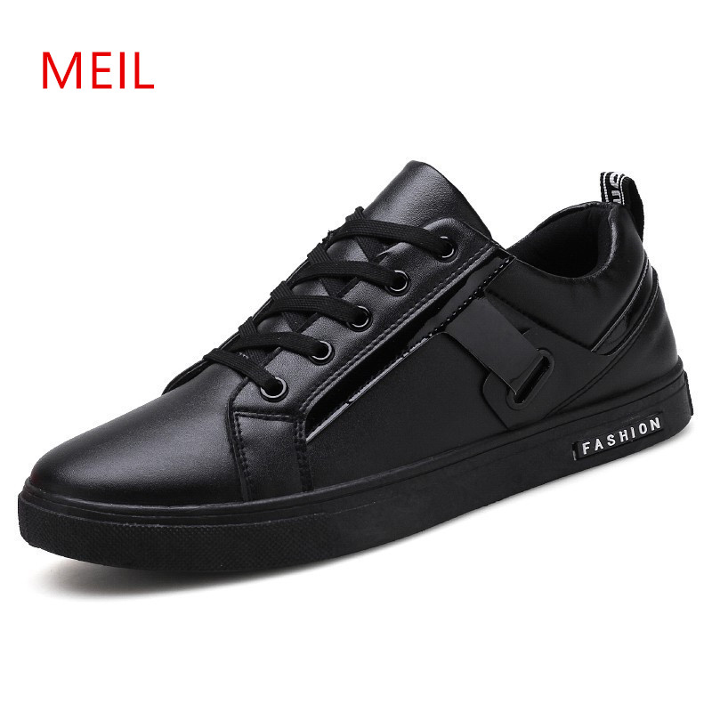 Black Leather Sneakers man,mens shoes Casual Men Leather Footwear driving shoes Mens Sneakers Casual Boat Shoes Mocassin Homme new mens shoes casual black sneakers leather shoes men loafers white platform driving shoes for men trainers chaussures hommes
