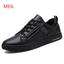 Black Leather Sneakers man,mens shoes Casual Men Leather Footwear driving shoes Mens Sneakers Casual Boat Shoes Mocassin Homme цены онлайн