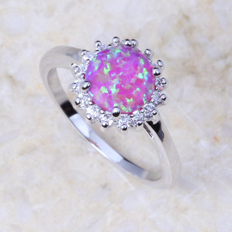 Elegant Crystal Fire Opal Rings For Womes