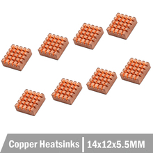 80PCS Pure Copper Heatsinks 14X12X5.5MM RHS-03 RAM Graphics Memory for Raspberry Pi DDR