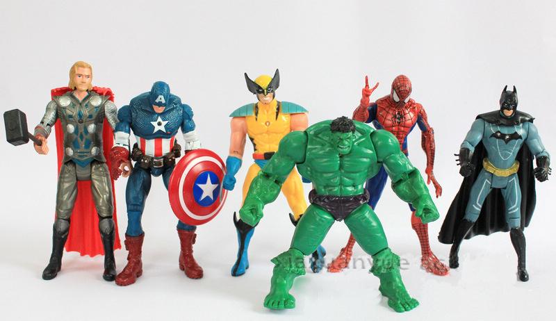 vendedor caliente capitn amrica wolverine thor spiderman batman cm figuras de accin juguetes regalos para