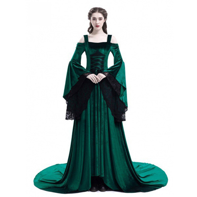 US $13.58 35% OFF|Cosplay Halloween Dress Medieval Palace Princess Dress  Adults Women Gothic Queen 2018 Plus Size 4xl 5xl Party Halloween Costumes  on ...